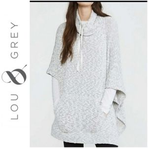 Lou & Grey Marled Cowl Neck Poncho S